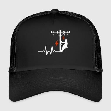 Heartbeats heartbeat electrician high voltage mast - Trucker Cap