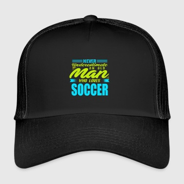 Old man Soccer - Trucker Cap