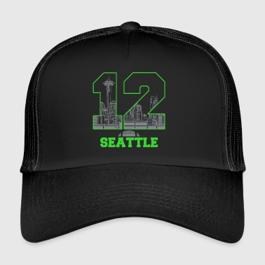 twelve seattle - Trucker Cap