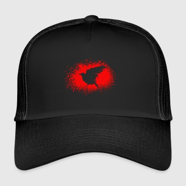 Halloween Blutkrähe Illustration crow bild - Trucker Cap