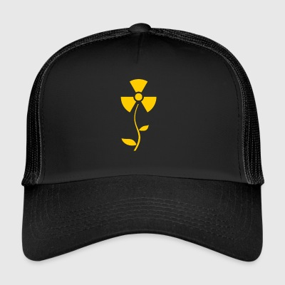 Radiation Blume gelb. athomic Alarmwarnung - Trucker Cap