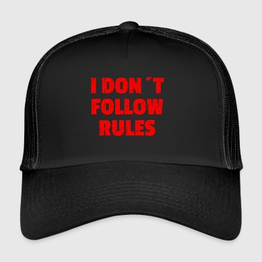 I DON´T FOLLOW RULES Red - Trucker Cap