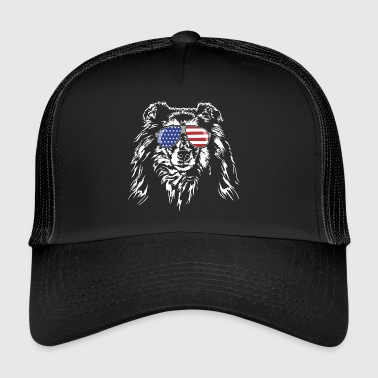 ROUGH COLLIE America flag - Trucker Cap