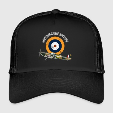 Retro Design Supermarine Spitfire Warbird Airplane - Trucker Cap