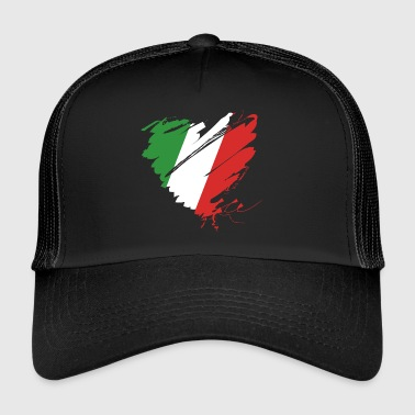 Heart Cuore Italy Italy Football - Trucker Cap