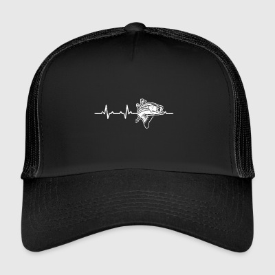 Perch Heartbeat Heartbeat Fishing gift angler - Trucker Cap