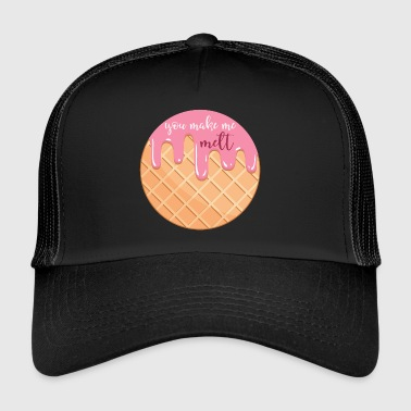 In love with you or ice cream - Trucker Cap
