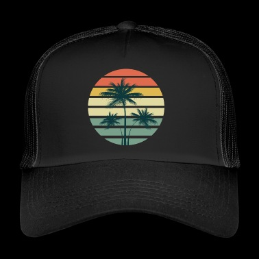Palm Tree Summer Beach Sun - Trucker Cap