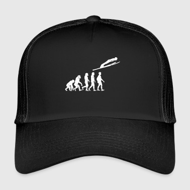 ski jumpers evolution ski jump far fly - Trucker Cap