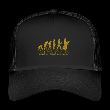 Evolution Snowboard Golden Glitter Effekt - Trucker Cap