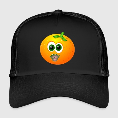 Orange Gesicht - Trucker Cap