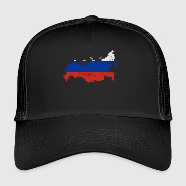 Rusland map nationale farver vintage look - Trucker Cap