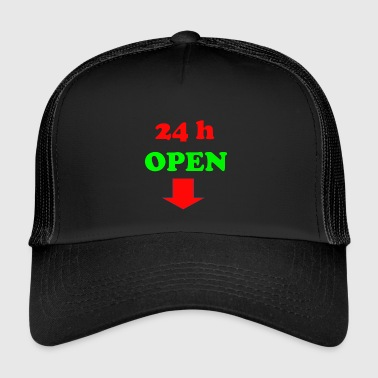 24 h open - Trucker Cap