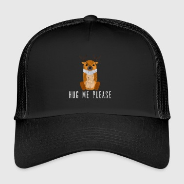 Hug me Please moose reindeer love gift idea - Trucker Cap