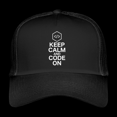 KEEP CALM AND CODE PÅ - Trucker Cap