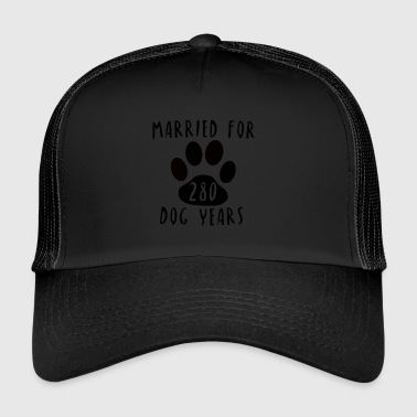 Married for 280 Dog Years Hochzeit Geschenk Idee - Trucker Cap