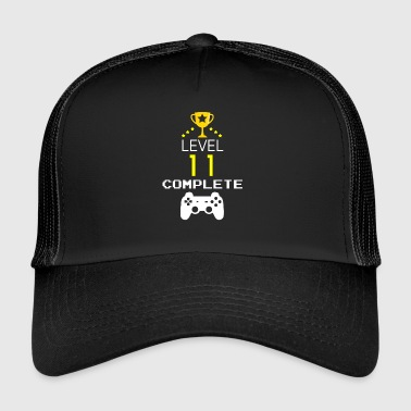 LEVEL 11 COMPLETE - Birthday gift for gamers - Trucker Cap