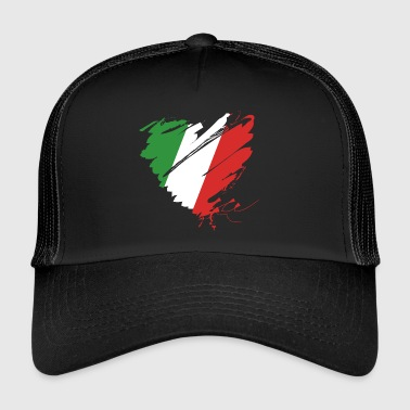 Coeur Cuore Italie Calcio Italiano Football - Trucker Cap