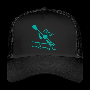 Kayak. Canoe Kayak. Love Kayaking. kayak is LIFE. - Trucker Cap