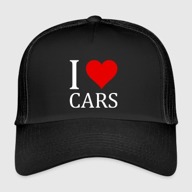 I love CARS shirt design gift - Trucker Cap