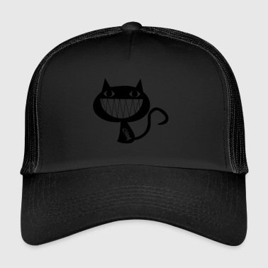 Chat Coupable drôle Ate poisson - Trucker Cap