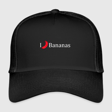 I love bananas fruit crooked gift idea - Trucker Cap
