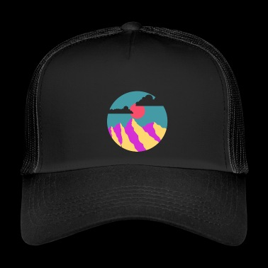 mountain illustration - Trucker Cap