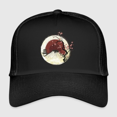 Fujiyama with lotus flower in the sunset - Trucker Cap