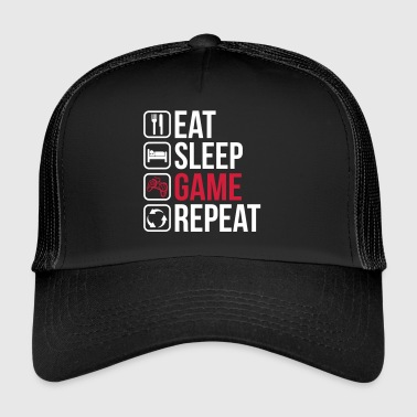 Eat Sleep Game Repeat - Trucker Cap