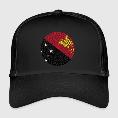 Papua New Guinea Papua New Guinea Love HEART Mandala - Trucker Cap