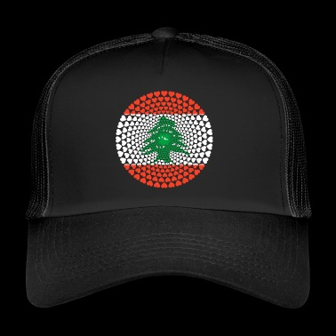 Lebanon اللبنانية Love Heart Mandala - Trucker Cap