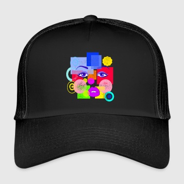 Abstract Face - Trucker Cap