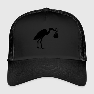 Stork with Baby Maternity Mum with baby bump - Trucker Cap