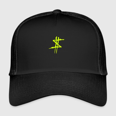 Dollar Sign Gul - Trucker Cap