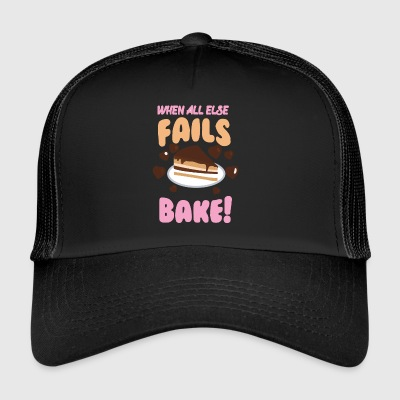 If all else fails cheek! - Trucker Cap