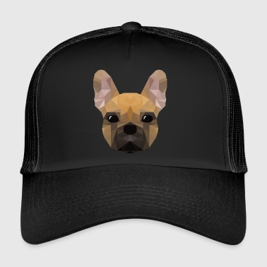 French Bulldog - low poly style - Trucker Cap