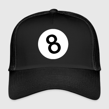 8 - Eight Ball - Black Ball - Trucker Cap