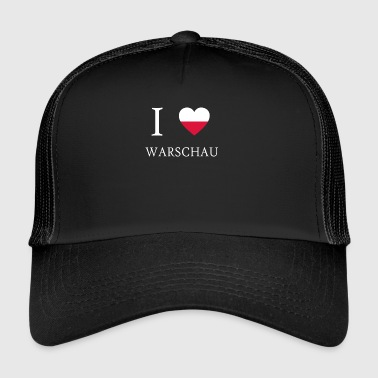 I love poland WARSAW - Trucker Cap