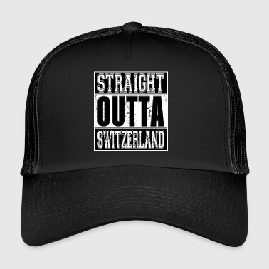 Straight Outta Switzerland 001 AllroundDesigns - Trucker Cap