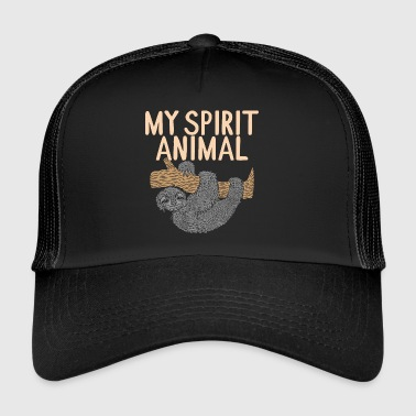 My spirit animal sloth funny shirt gift - Trucker Cap