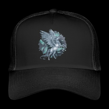 Pegasus met Stain background - Trucker Cap