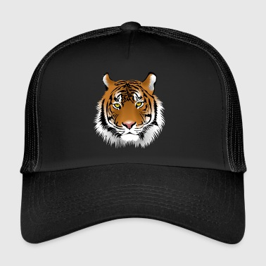 Tiger head with whiskers majestically - Trucker Cap