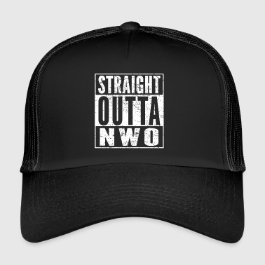 Straight Outta conspiration NWO chemise drôle - Trucker Cap