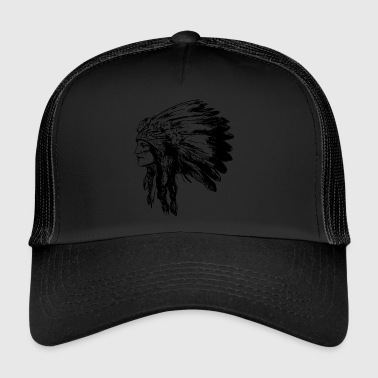 Indian ansikte American Illustration - Trucker Cap