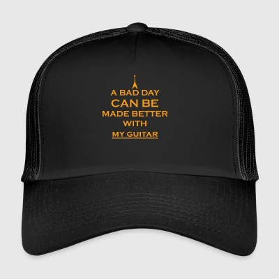 gift bad day better bass e guitar guitar - Trucker Cap