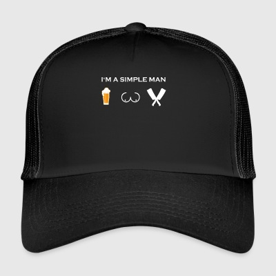 simple man like boobs bier beer titten metzger fle - Trucker Cap