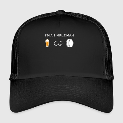 simple man like boobs bier beer titten trommel dru - Trucker Cap