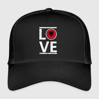 roots love heimat herkunft queen Albanien - Trucker Cap