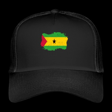 Roots Roots Flag Homeland Country Sa o Tome and Pr - Trucker Cap