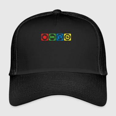 eat sleep repeat krypto hodl bitcoin NEO krypto cr - Trucker Cap